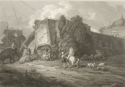 The Fort, and North Gateway of the Great Kuttra, Dacca